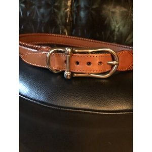 Willis and Geiger Leather Equestrian Belt Size 38